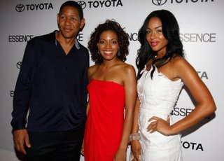 scott lawrence, femi emiola and alexis phifer attend the iflookscouldkill.com launch party